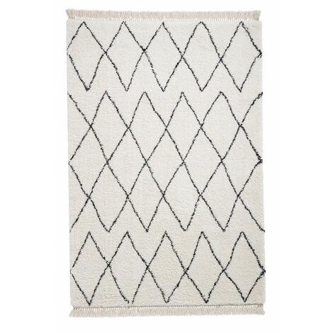 Tapis SARI Noir/ Blanc / 200 x 290