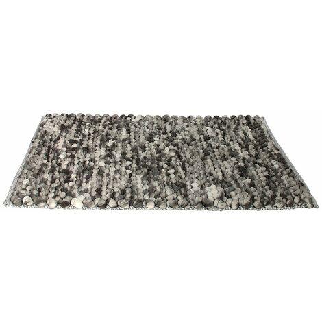Tapis scandinave effet boules Cocooning - L. 120 x l. 170 cm - Marron/Gris - Gris