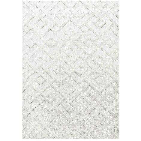 Tapis scandinave rectangulaire Saloda Crème 60x110 - Crème