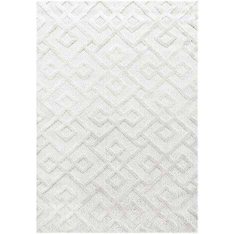 Tapis scandinave rectangulaire Saloda Crème 80x150 - Crème