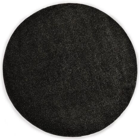 Tapis Shaggy 120 cm Anthracite