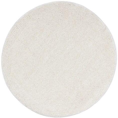 Tapis Shaggy 120 cm Crème