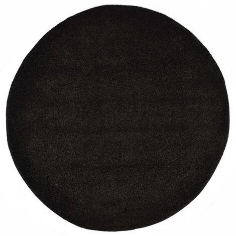 Tapis Shaggy 160 cm Noir