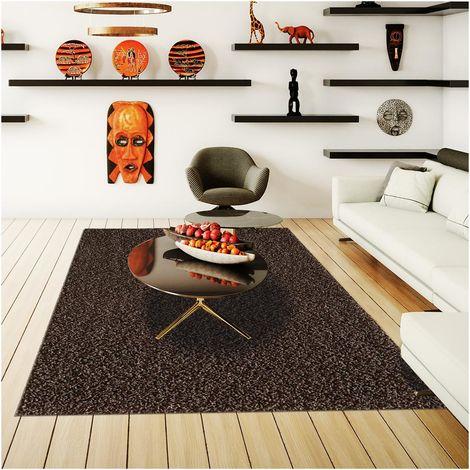 Tapis shaggy poils long 67x230 cm Rectangulaire SG LOCA Vert Couloir adapté au chauffage par le sol