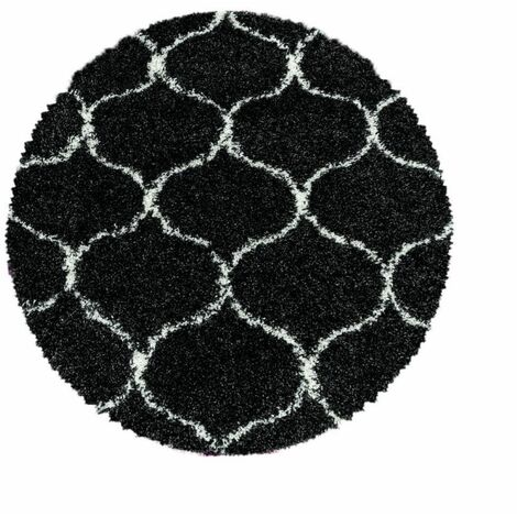 Tapis shaggy rond SAFI 200x200 Anthracite - Anthracite