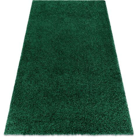 Tapis SOFFI shaggy 5cm bouteille verte nuances de vert 60x100 cm