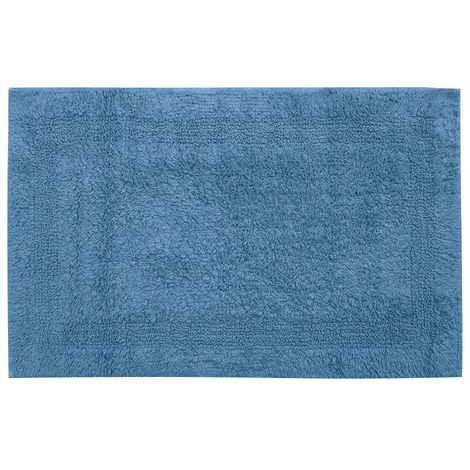 Tapis sortie de bain uni Arvix - Bleu provence