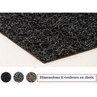 Tapis Spaghetti noir très absorbant et lavable / dimensions et couleurs au choix / tapis grattant pour intérieur et extérieur