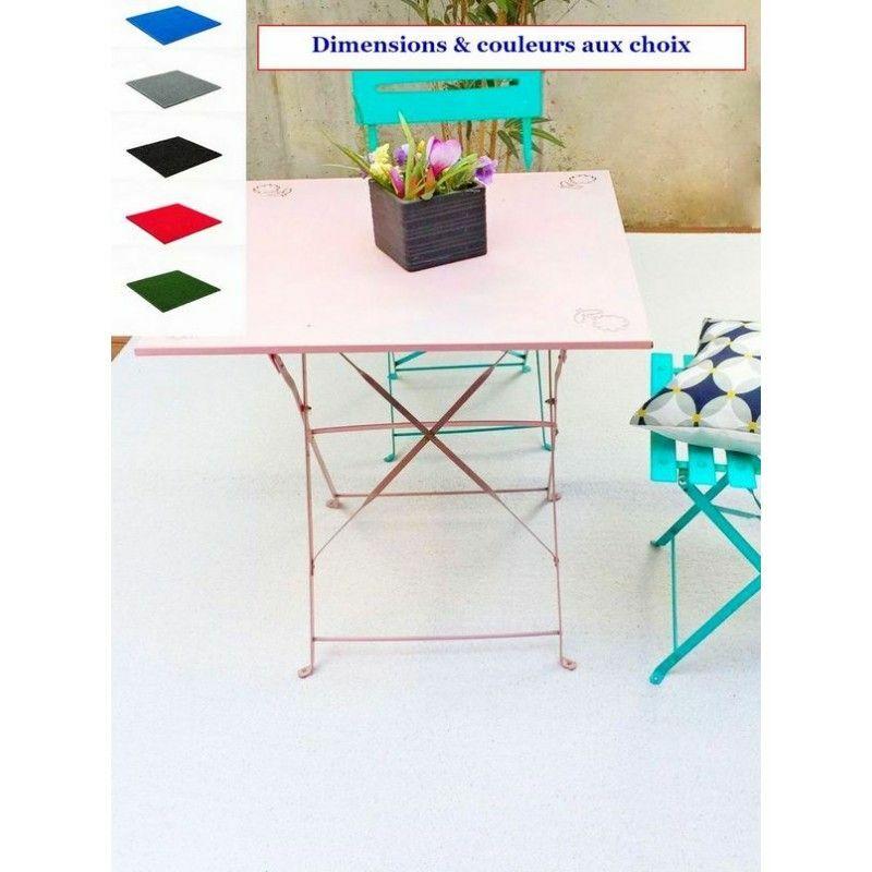 Madeinnature - Tapis spécial Salon de Jardin/Tapis extérieur et intérieur/Tapis pour Terrasses et Balcons/Dimensions et Coloris au Choix - Blanc