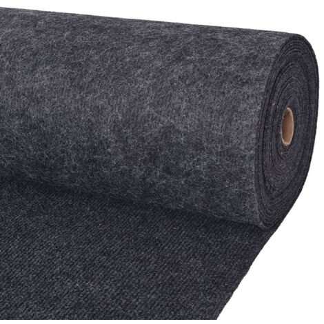 Tapis strie pour exposition 1,6x15 m Anthracite
