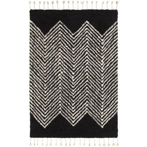 Tapis style Berbère avec franges - Arrow noir