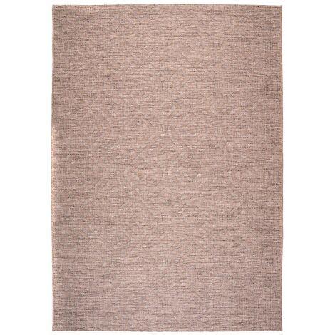 Tapis taupe intérieur et extérieur rectangle plat Jacob Taupe 160x230 - Taupe