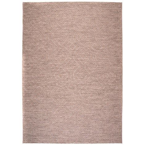Tapis taupe intérieur et extérieur rectangle plat Jacob Taupe 200x290 - Taupe
