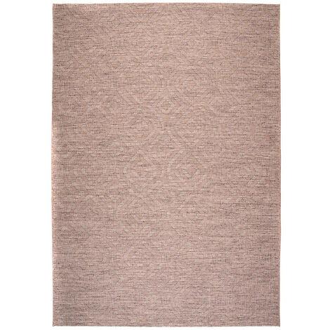Tapis taupe intérieur et extérieur rectangle plat Jacob Taupe 80x150 - Taupe