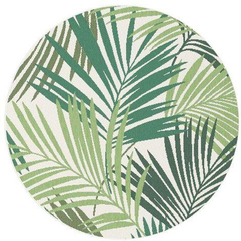 Tapis Tropical Rond - Intérieur / Extérieur - diamètre 160 cm