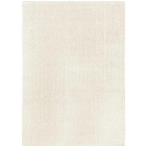 Tapis Velours - Blanc crème - Lavable en machine