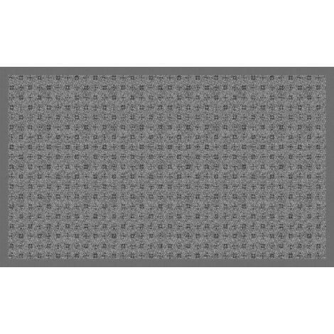Tapis Velvet Carreau Ciment Noir rouleau 65cm
