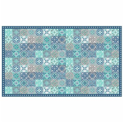Tapis vinyle 100x170 cm Alicante bleu