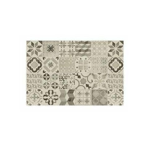 Tapis vinyle - 50 x 75 cm - Gris clair