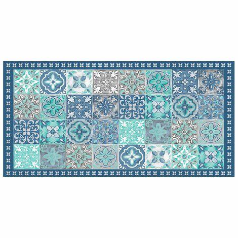 Tapis vinyle 50x100 cm Alicante bleu