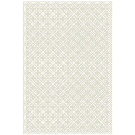 Tapis vinyle carreaux de ciment - Agathe - Nude - 49,5 x 83 cm