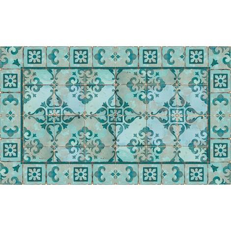 Tapis Vinyle Gustav Turquoise