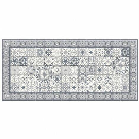 Tapis vinyle motif mosaïque asymétrique - L 109 x l 50 cm