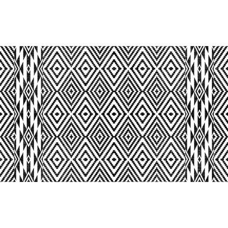 Tapis vinyle PVC Ethnique N&B