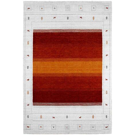 Tapis viscose et laine ethnique Rush Multicolore 120x170 - Multicolore