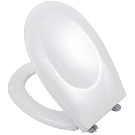 Tapis wc thermodurcissable 37x45 cm laqué blanc brillant avec fermeture ralentie | Blanc brillant