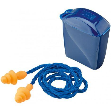 Tapón antirruido (protección auditiva) reutilizable 3M™ -1261-/-1271- -1271-, con cinta (50 pores)