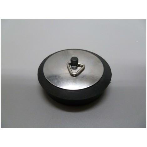 Tapon baÑo c/emb 55mm goma/chapa neg/inox s&m