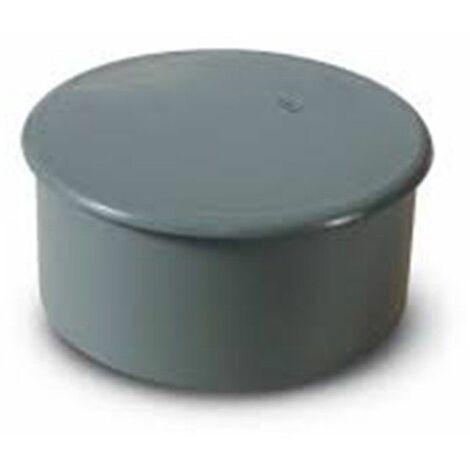 Tapón ciego de PVC gris de 40mm Macho de Crearplast