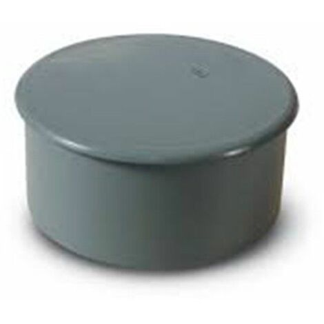 Tapón ciego de PVC gris Macho de Crearplast