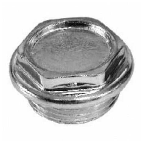 """Tapón ciego para radiador 1"""" rosca izquierda de Atusa"""