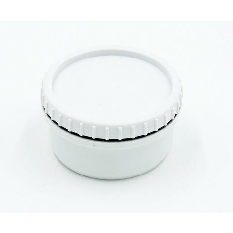 Tapón de PVC macho ø 40 blanco - tapón de inspección de desagüe.
