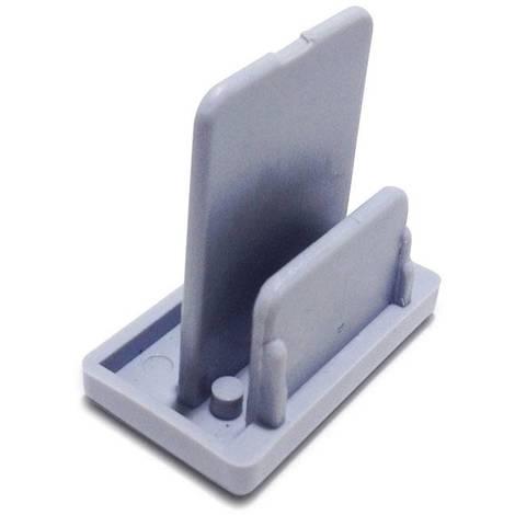 Tapón final para carril monofásico de superficie