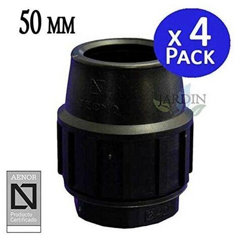 Tapón final Polietileno 50mm (pack 4). Producto con certificado AENOR utilizado para taponar tuberias PE 50 mm