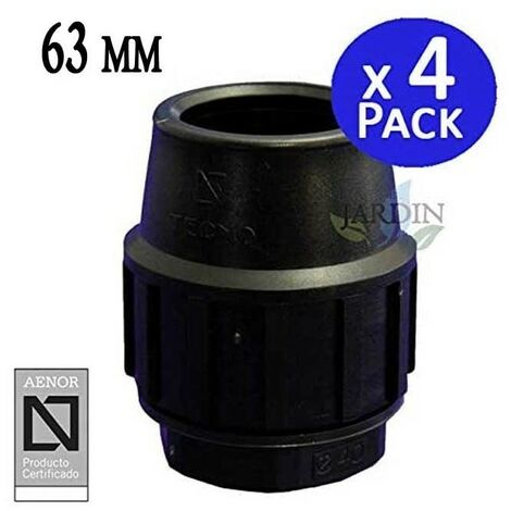 """main image of """"Tapón final Polietileno 63mm (pack 4). Producto con certificado AENOR utilizado para taponar tuberias PE 63 mm"""""""