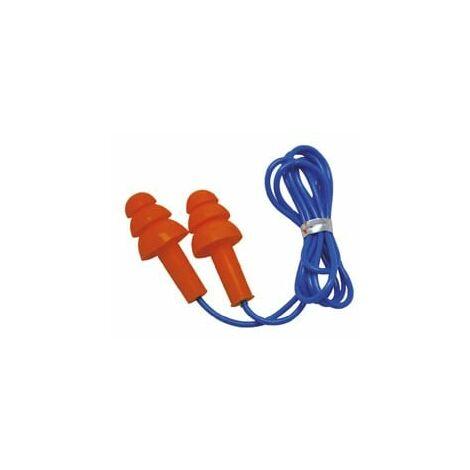 "main image of ""Tapones auditivos SAFETOP con cordón desmontable SNR 32dB Smart Fit (50 pares)"""