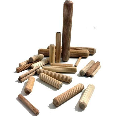 Tapones de madera Tapones acanalados de madera dura de 10x30 mm Muebles Azulejos de madera Galleta estriada Artesania (abedul) Arte: 30-KD10X30-29