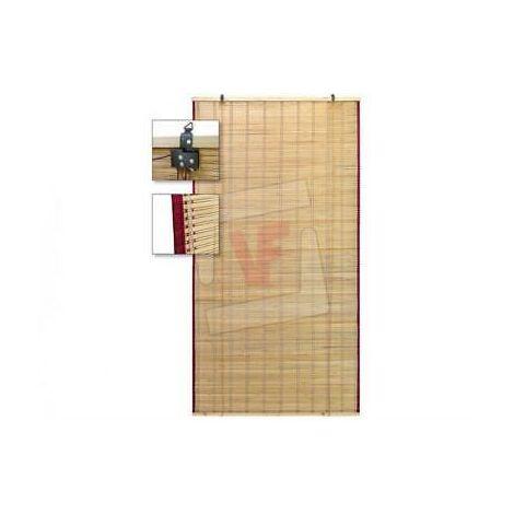 Tapparella Tenda In Bamboo Cm. 180X300H Con Carrucole E Protezioni Laterali