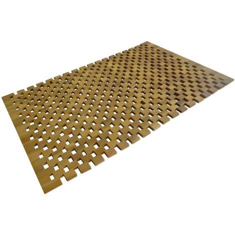 Tappetino da Bagno in Legno di Acacia 80x50 cm a Mosaico