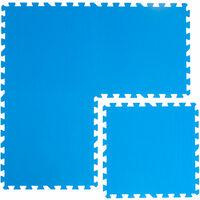 Tappetino Puzzle per Piscina azzurro