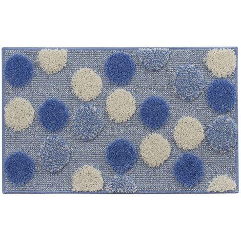 Tappeto bagno antiscivolo azzurro 50 x 80 cm mod. Ios