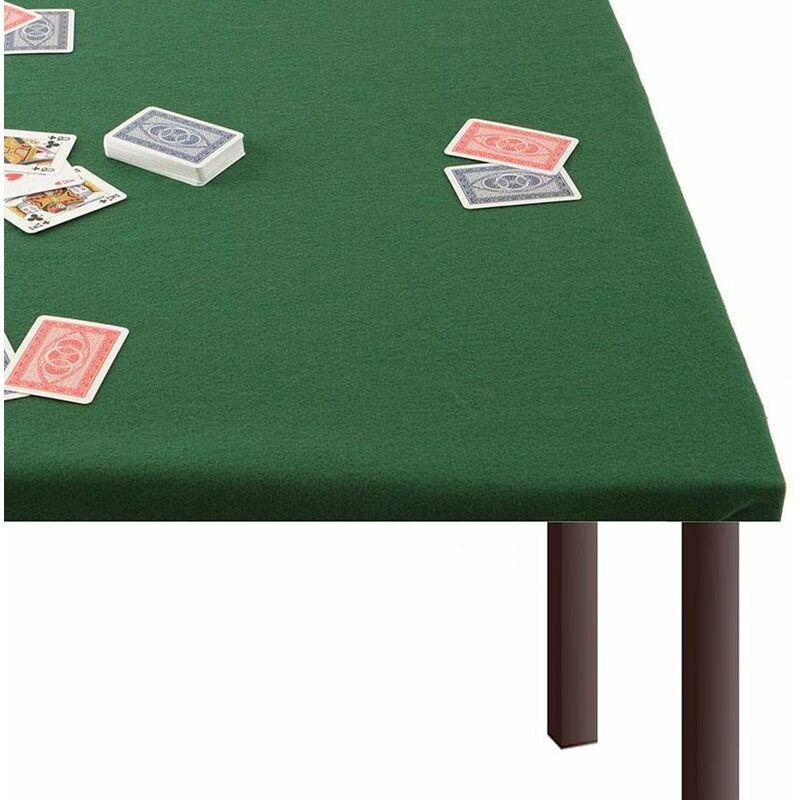 Tappeto copri-tavolo in panno verde, tovaglia da Poker e ...