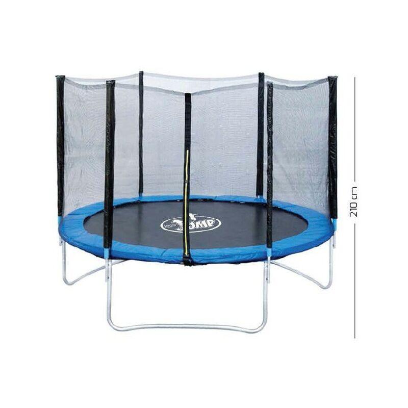 Trampolino Tappeto Elastico Giardino Giochi Bambini Rete Sicurezza Verde 250Cm