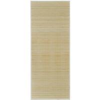 Tappeto in Bambù Naturale Rettangolare 80 x 300 cm