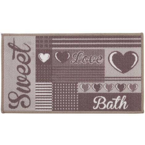 Tappeto per il Bagno in Nylon con stampa lavabile e impermeabile 60x100 cm