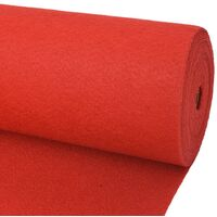 Tappeto Piatto da Esposizione 2x12 m Rosso